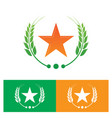 star and laurel wreath logo vector image vector image