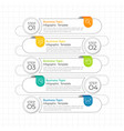 timeline or step infographic design vector image vector image