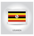 uganda flag design vector image