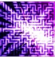 Violet maze with light vector image vector image