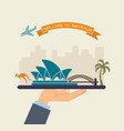 welcome to australia attractions of australia on vector image vector image