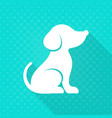 White cute dog flat icon
