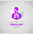 world tuberculosis day icon design infographic vector image vector image