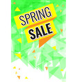 yellow and orange ribbon with text spring sale vector image vector image