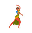 young woman performing folk dance indian dancer vector image vector image