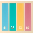 Design Template For Infographics Numbered Banners vector image