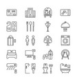 thin line icons set hotel and rest vector image