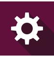 Gear icon flat vector image
