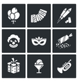 Event Agency icon set vector image