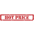 Hot price stamp vector image