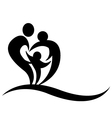 symbol family silhouette vector image