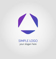 abstract business logo template in colorful vector image vector image