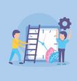 businessmen clock creativity vector image vector image