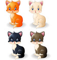 cartoon cute cat collection vector image