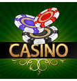 casino design chips for tournament games vector image