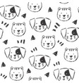 childish pattern with hand drawn dogs and cats vector image