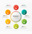 circle chart template with 6 options vector image vector image