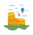 coliseum rome and funny air balloons vector image vector image