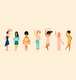 concept of feminism girl power female equality vector image