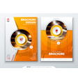 cover set orange template for brochure banner vector image vector image