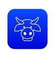 cow head icon blue vector image