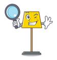 detective floor lamp character cartoon vector image