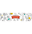 easter cover and banner template with decorative vector image