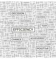 EFFICIENCY vector image