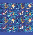 fantastic creatures animals pattern cute vector image vector image