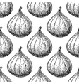 fig seamless pattern drawing hand drawn vector image vector image