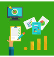 Flat concept of business making profit vector image