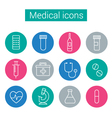 Flat medical icons in circles vector image vector image