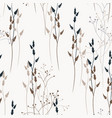 floral seamless pattern with wild meadow flowers vector image vector image