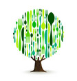 food cutlery tree for healthy eating concept vector image