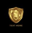 gold shield soccer vector image vector image