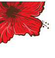 greeting card hibiscus flower in tattoo style vector image vector image