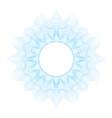guilloche decorative element vector image