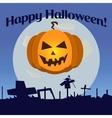 Halloween pumpkin laughs vector image vector image