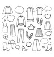 hand drawn fashion collection vector image