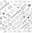 hand drawn technology innovations seamless pattern vector image vector image