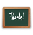 hand drawn thanks word on a green vector image vector image