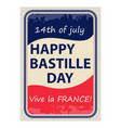 happy bastille day july 14 viva france s vector image vector image