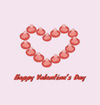 happy valentines day gift card love condom vector image