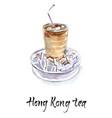 hong kong iced tea vector image vector image