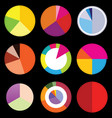 infographic elements pie charts vector image vector image