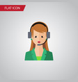 isolated hotline flat icon secretary vector image vector image