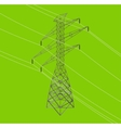 isometric high power voltage line vector image vector image
