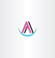letter a symbol logotype clip art vector image vector image