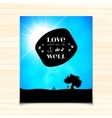 Love what you do and do it well lettering vector image vector image