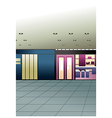 Mall Shops vector image vector image